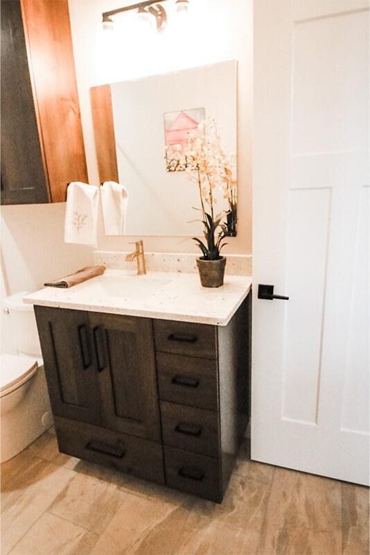 Bathroom design at 'Radharc A' Gleann' from Pioneer Floor Coverings & Design
