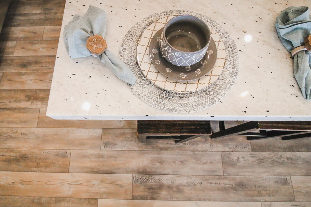 Stone countertops at 'Radharc A' Gleann' from Pioneer Floor Coverings & Design
