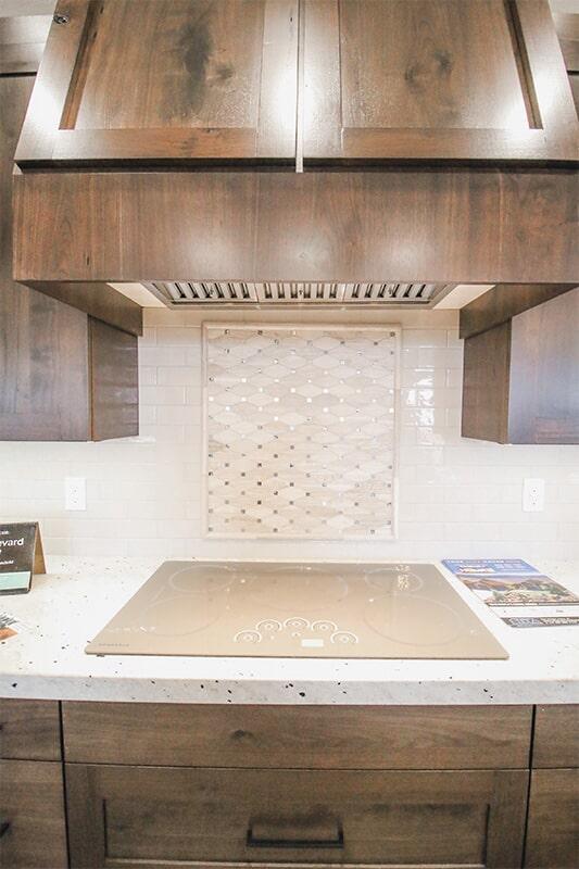 Custom backsplash design at 'Radharc A' Gleann' from Pioneer Floor Coverings & Design