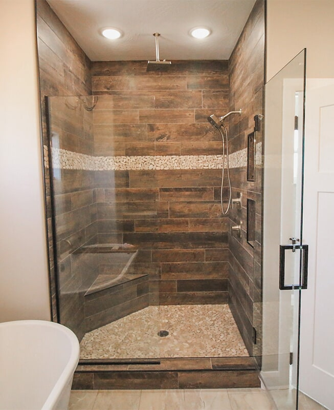 Shower design at 'Radharc A' Gleann' from Pioneer Floor Coverings & Design