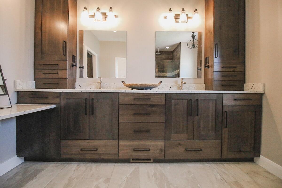 Master vanity at 'Radharc A' Gleann' from Pioneer Floor Coverings & Design