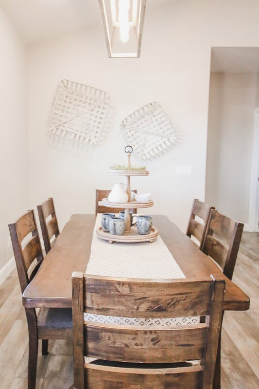 Dining space at 'Radharc A' Gleann' from Pioneer Floor Coverings & Design