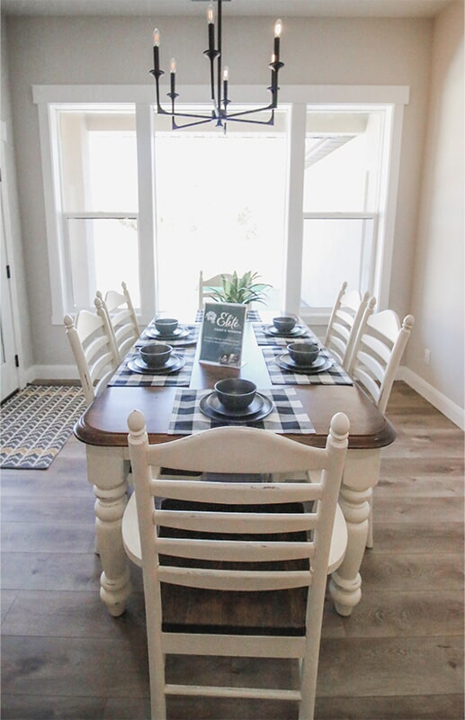Formal dining at 'South Mountain Look' from Pioneer Floor Coverings & Design