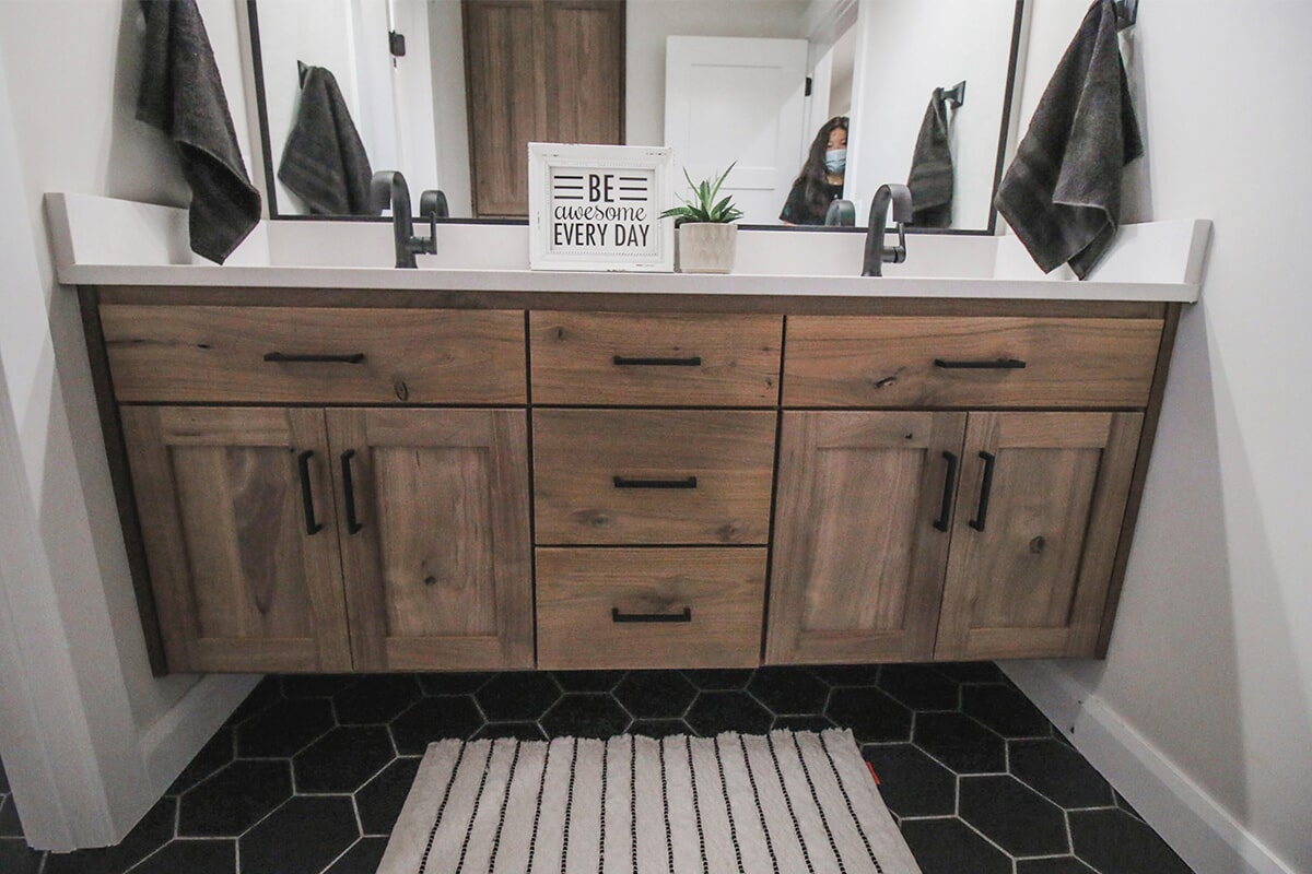 Custom vanity at 'South Mountain Look' from Pioneer Floor Coverings & Design