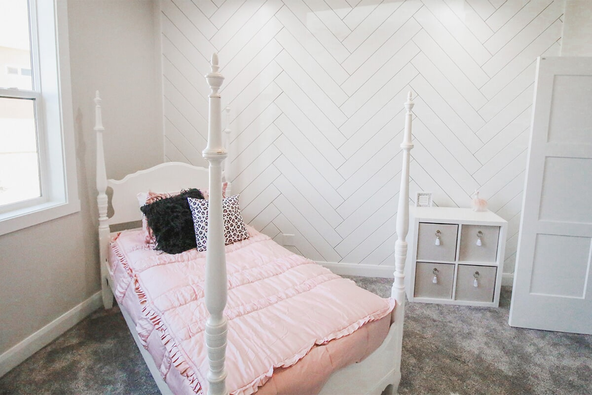 Bedroom design at 'South Mountain Look' from Pioneer Floor Coverings & Design