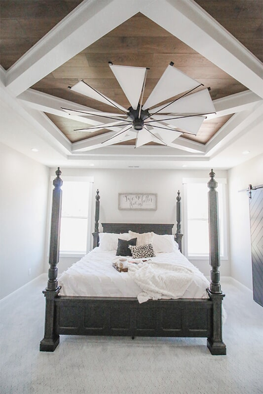 Custom ceiling design at 'South Mountain Look' from Pioneer Floor Coverings & Design