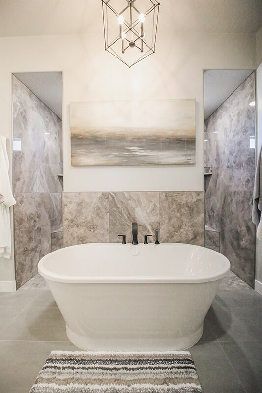 Large soaking tub at 'Elements at Sunset' from Pioneer Floor Coverings & Design