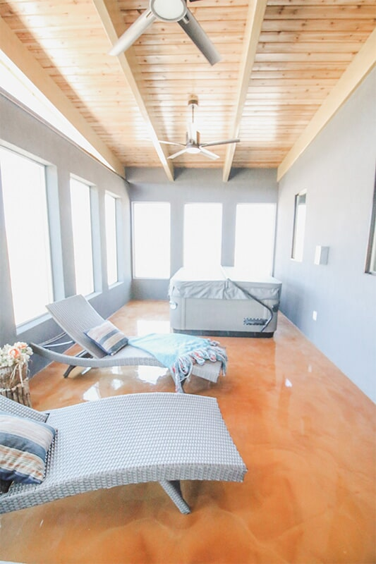Sunroom at 'Elements at Sunset' from Pioneer Floor Coverings & Design