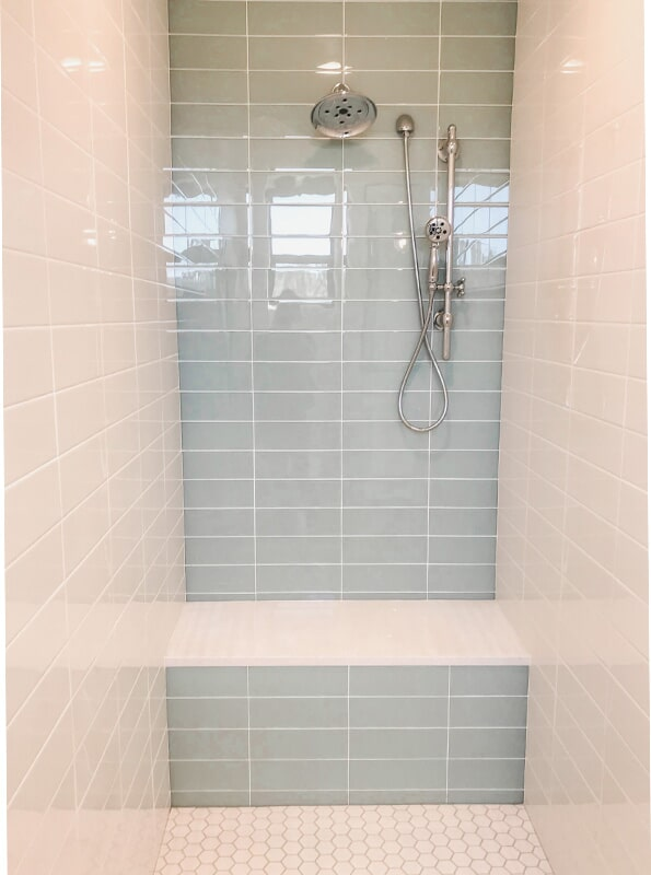 Minimalist shower design at 'Clear Glenn' from Pioneer Floor Coverings & Design
