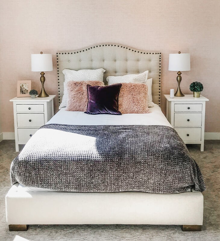 Bedroom design at 'Clear Glenn' from Pioneer Floor Coverings & Design