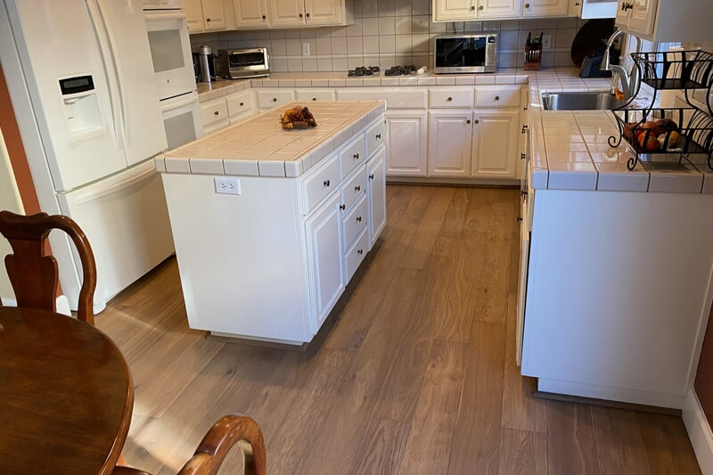 Wood-look kitchen flooring in Los Gatos, CA from Floor Depot