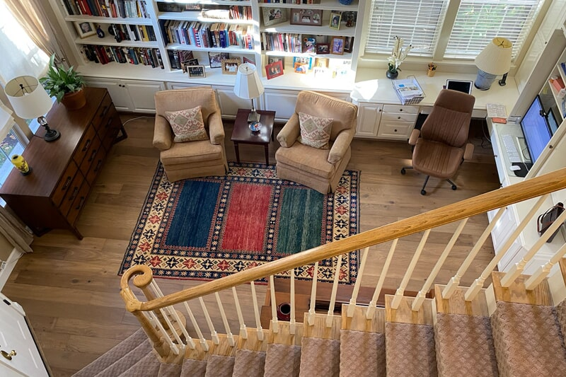 Carpeted stairs in Fremont, CA from Floor Depot
