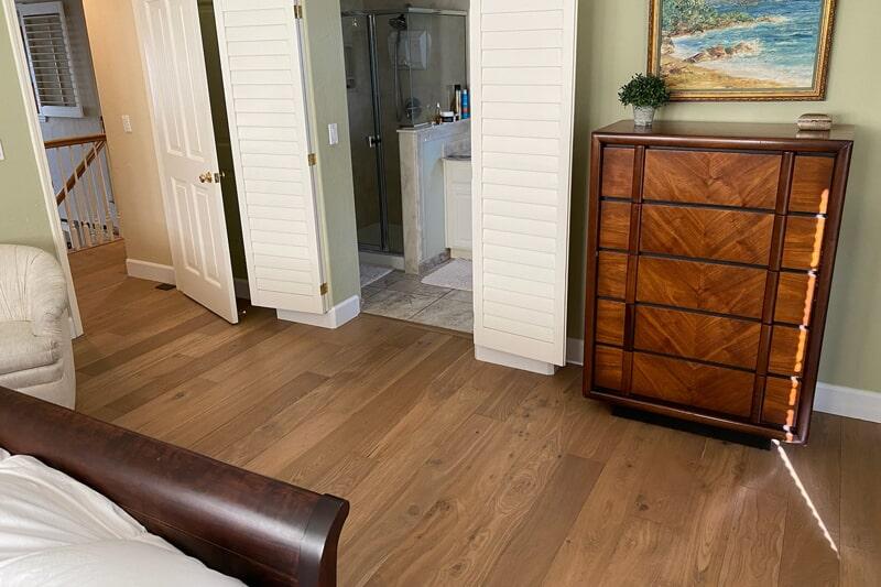 Hardwood to tile flooring transition in Los Gatos, CA from Floor Depot