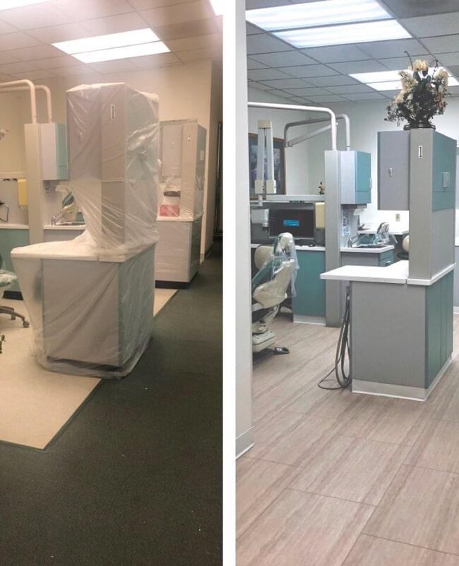 New medical flooring installation in San Jose, CA from Floor Depot