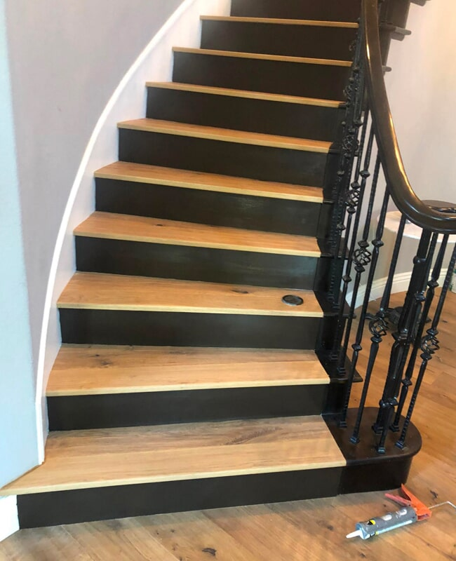 Wood stairs installation in San Jose, CA from Floor Depot