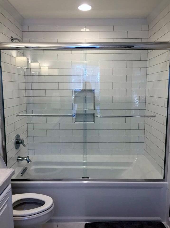 Shower installation from Richie Ballance Flooring & Tile in Wilson, NC