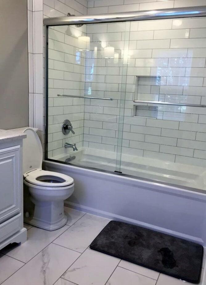 Bathroom remodel from Richie Ballance Flooring & Tile in Wilson, NC