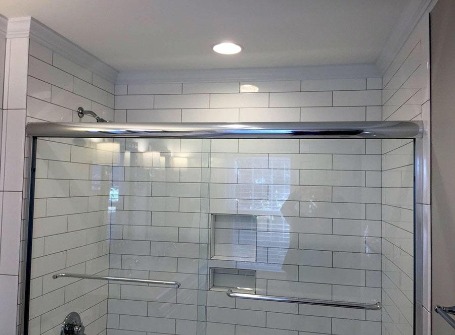 White subway tiles from Richie Ballance Flooring & Tile in Wilson, NC