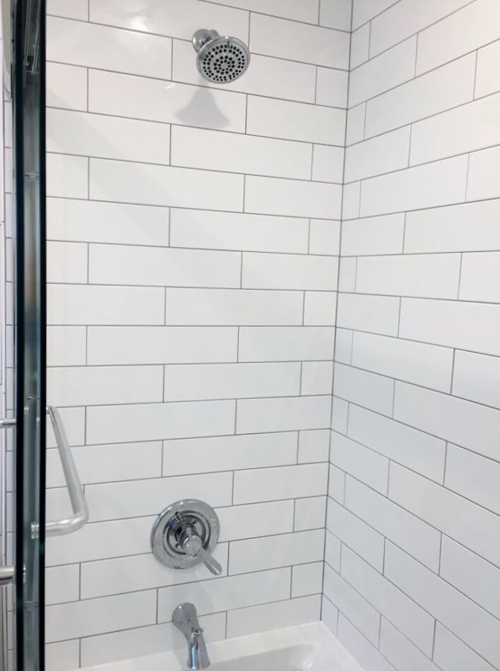 Modern shower hardware from Richie Ballance Flooring & Tile in Wilson, NC