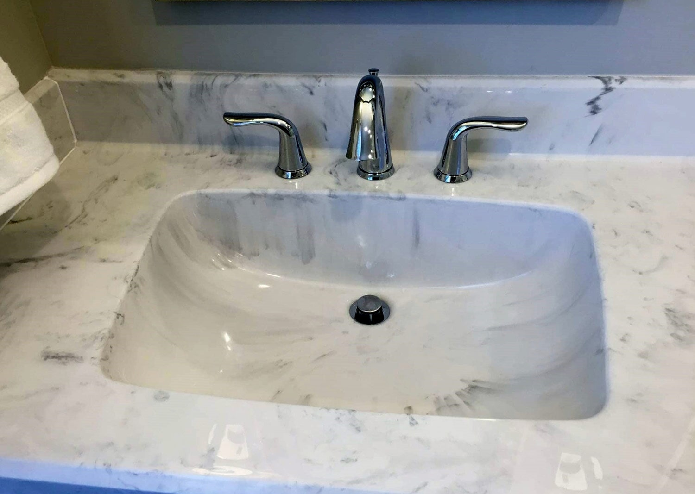 Custom stone sink from Richie Ballance Flooring & Tile in Wilson, NC