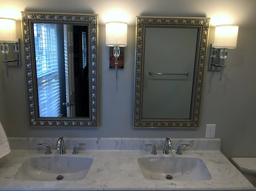 Bathroom lighting from Richie Ballance Flooring & Tile in Wilson, NC