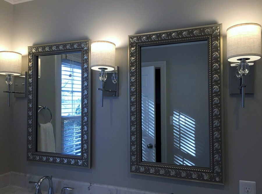 Contemporary bathroom mirrors from Richie Ballance Flooring & Tile in Wilson, NC