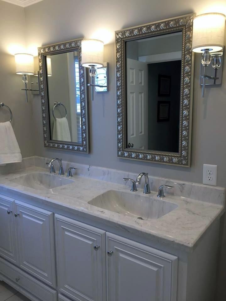 His & Hers vanity from Richie Ballance Flooring & Tile in Wilson, NC
