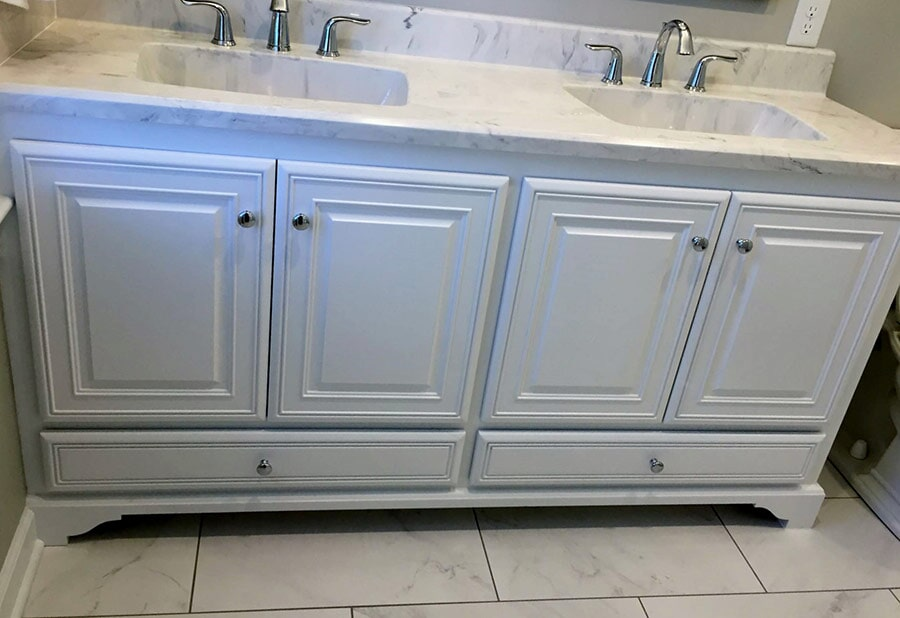 Dual vanity from Richie Ballance Flooring & Tile in Wilson, NC