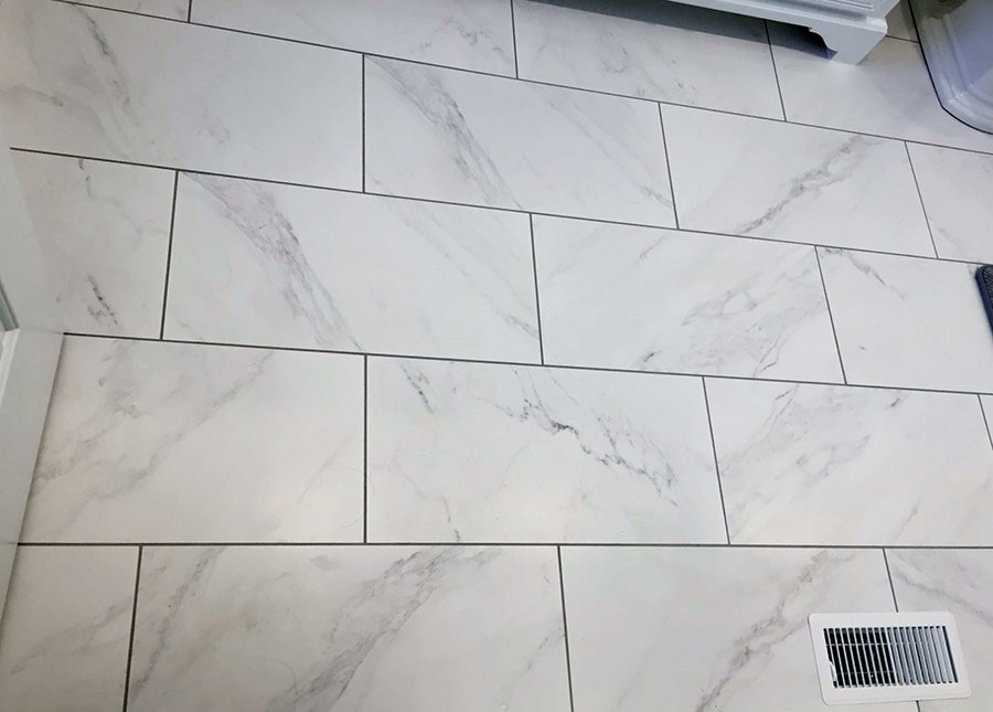 Marble subway tile from Richie Ballance Flooring & Tile in Wilson, NC