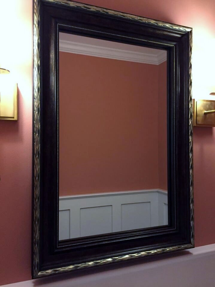 Beautiful bathroom mirror from Richie Ballance Flooring & Tile in Wilson, NC