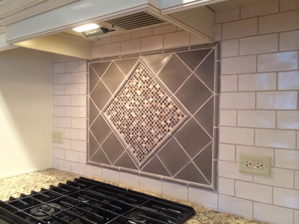 Custom backsplash piece in Twin Lakes, WI from Anderson Tile & Carpet