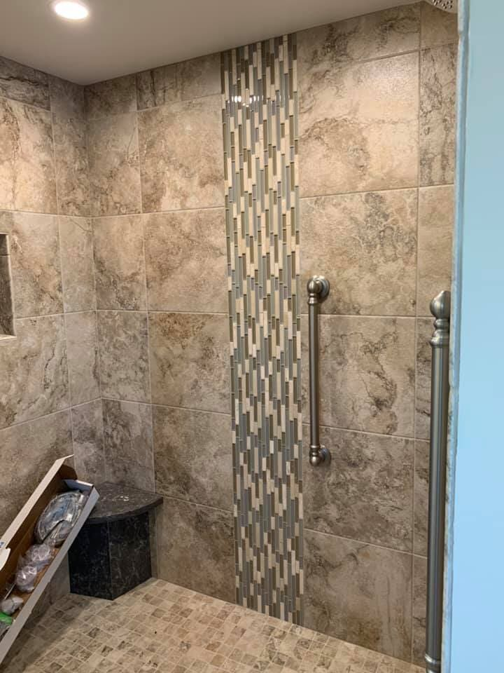 Glass tile accents in Johnsburg, IL from Anderson Tile & Carpet