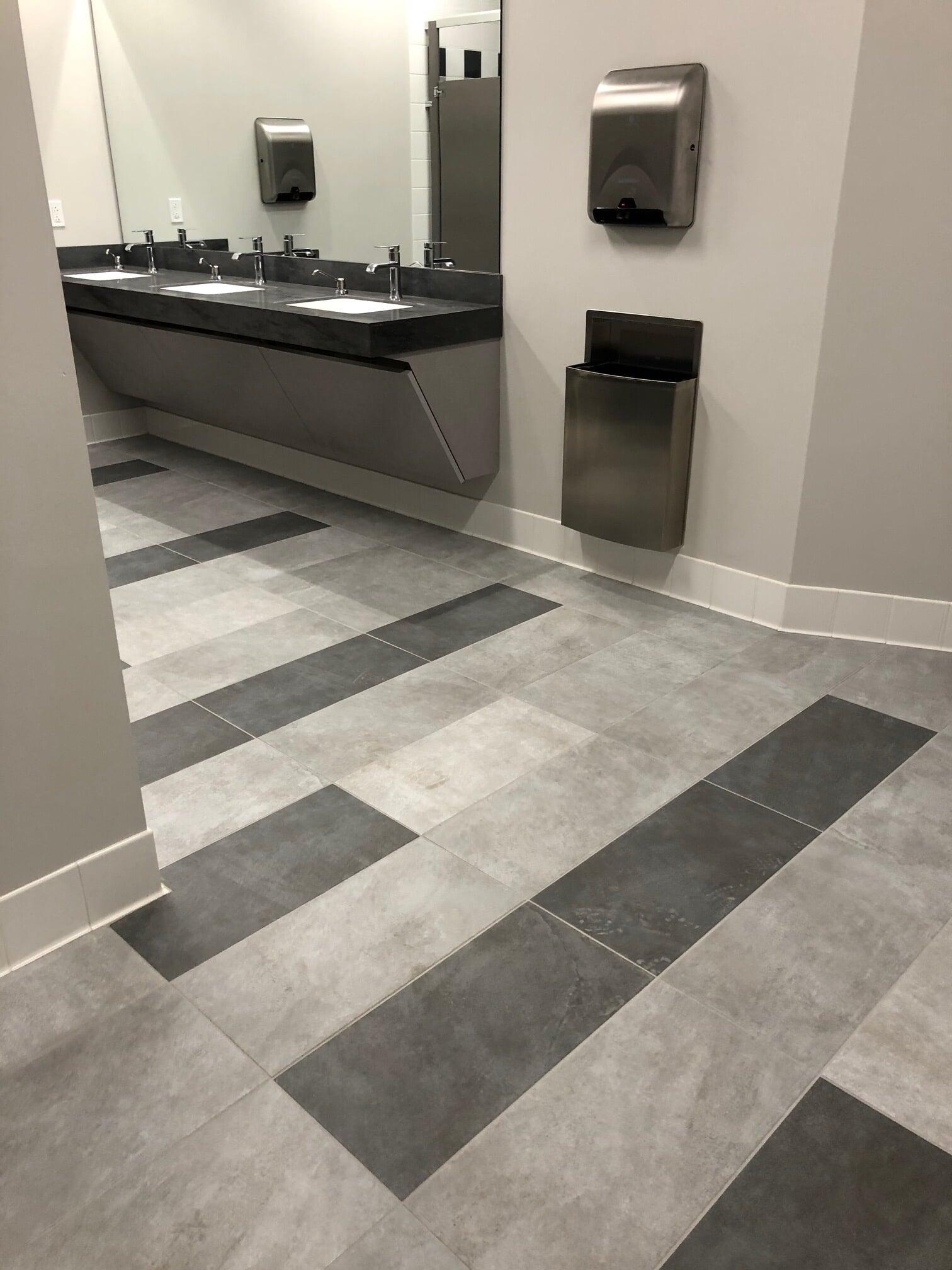 Commercial bathroom remodel in  from Barrington Carpet & Flooring Design