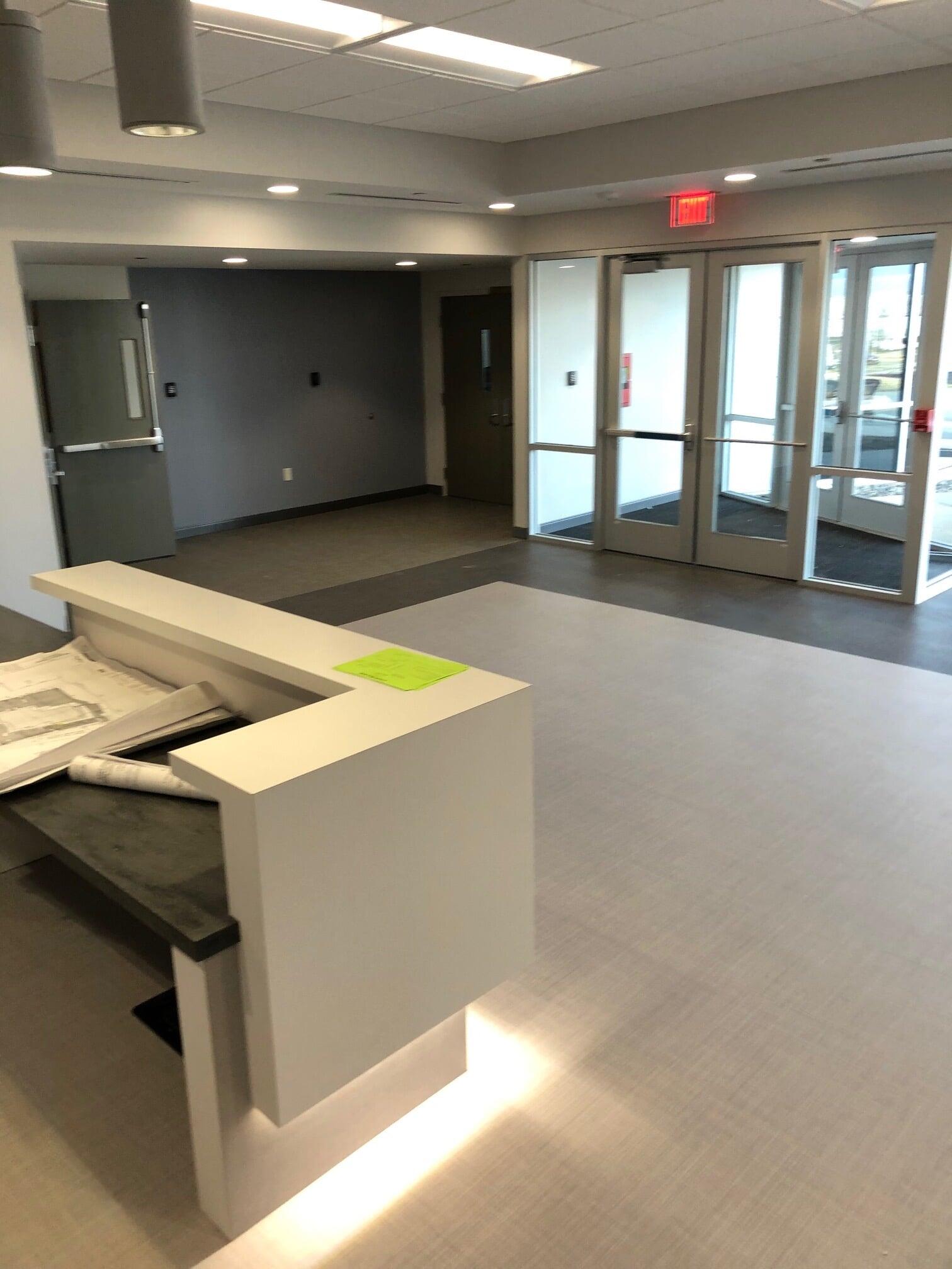 Modern business entryway in  from Barrington Carpet & Flooring Design