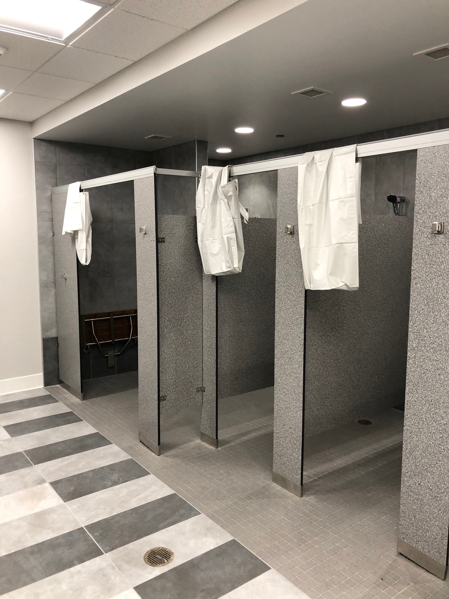 Commercial shower installation in  from Barrington Carpet & Flooring Design
