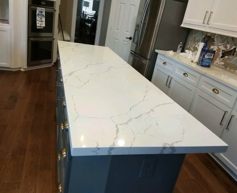 Large kitchen island in Houston, TX from Floor Inspirations