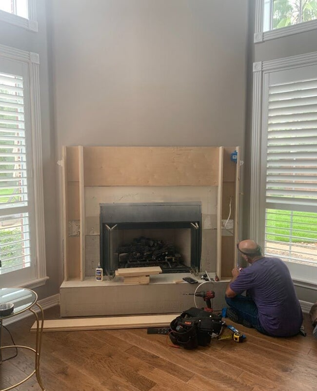 Fireplace surround in Houston, TX from Floor Inspirations