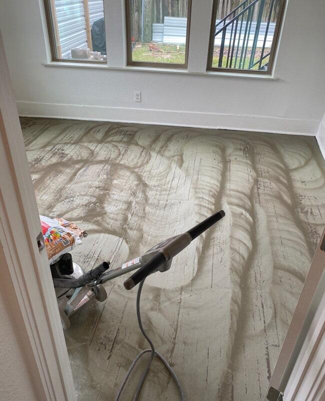 Subfloor sanding in Houston, TX from Floor Inspirations