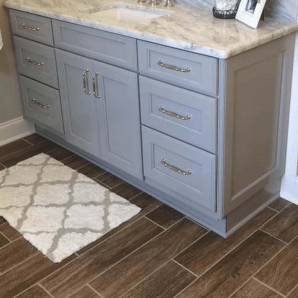 Bathroom flooring installation in Olive Branch, MS from DeSoto Floor Covering & Interiors