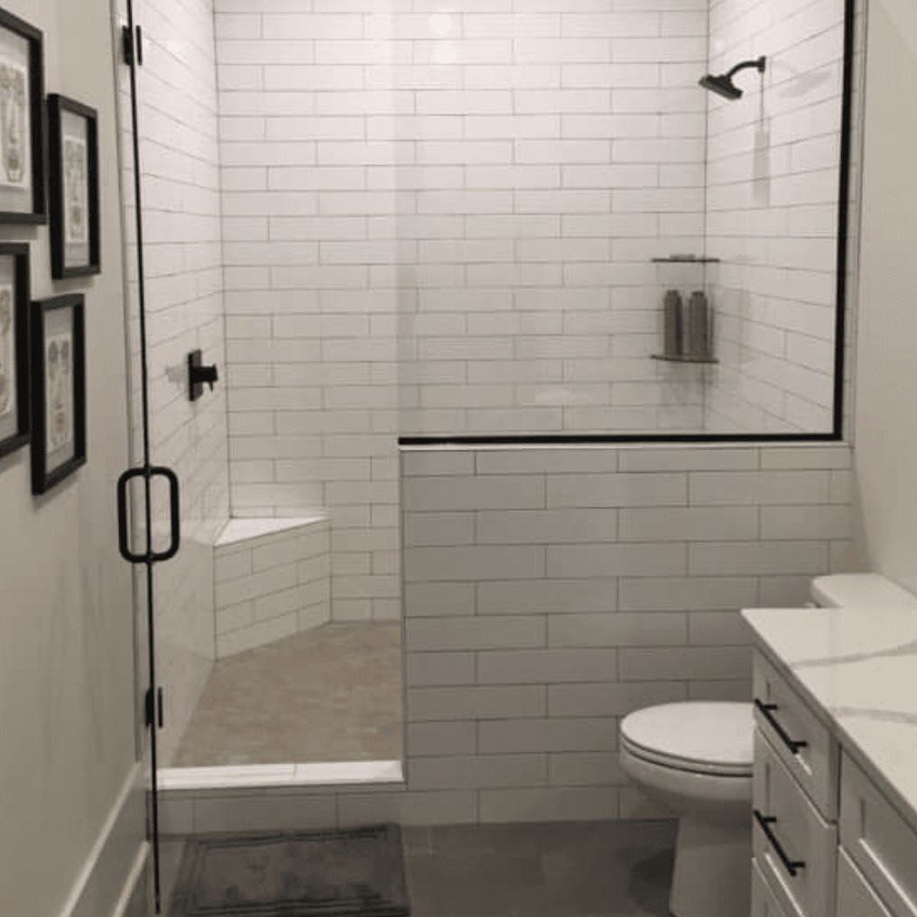 Subway tile shower in Hernando, MS from DeSoto Floor Covering & Interiors