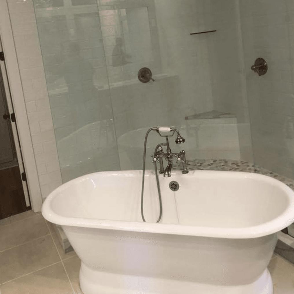 Soaking tub installation in Hernando, MS from DeSoto Floor Covering & Interiors