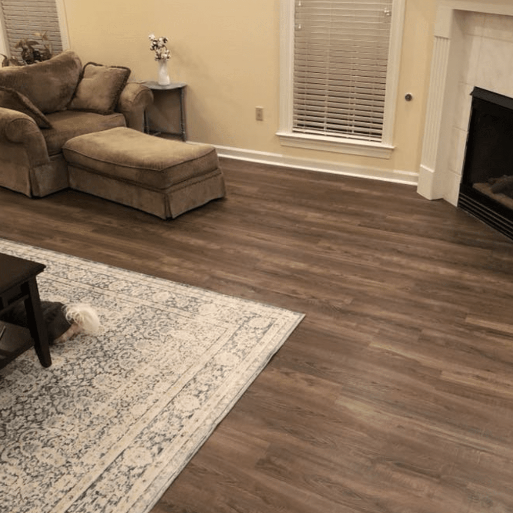 Living room flooring in Collierville, TN from DeSoto Floor Covering & Interiors
