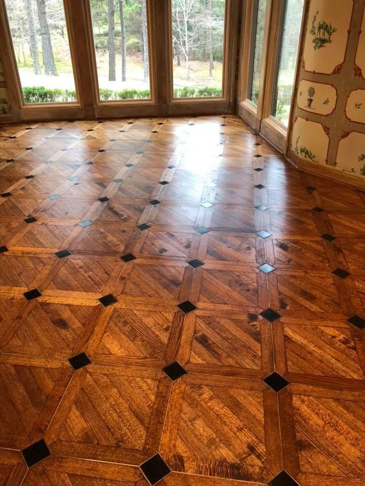 Custom wood flooring pattern in Fouke, AR from Carter Adams Flooring
