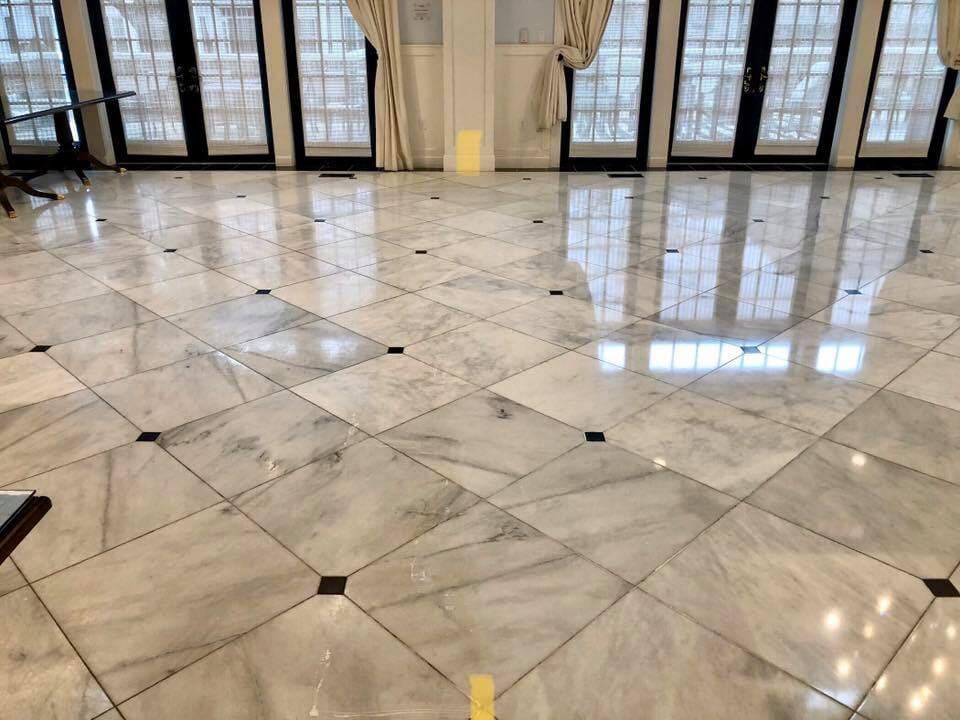 Marble tile flooring in New Boston, TX from Carter Adams Flooring