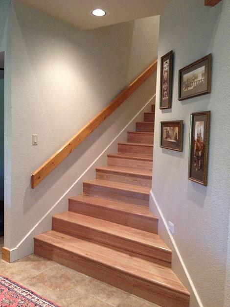 Stair flooring installation in Wake Village, TX from Carter Adams Flooring