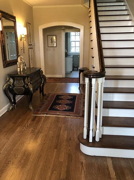Wood stairs in Texarkana, AR from Carter Adams Flooring