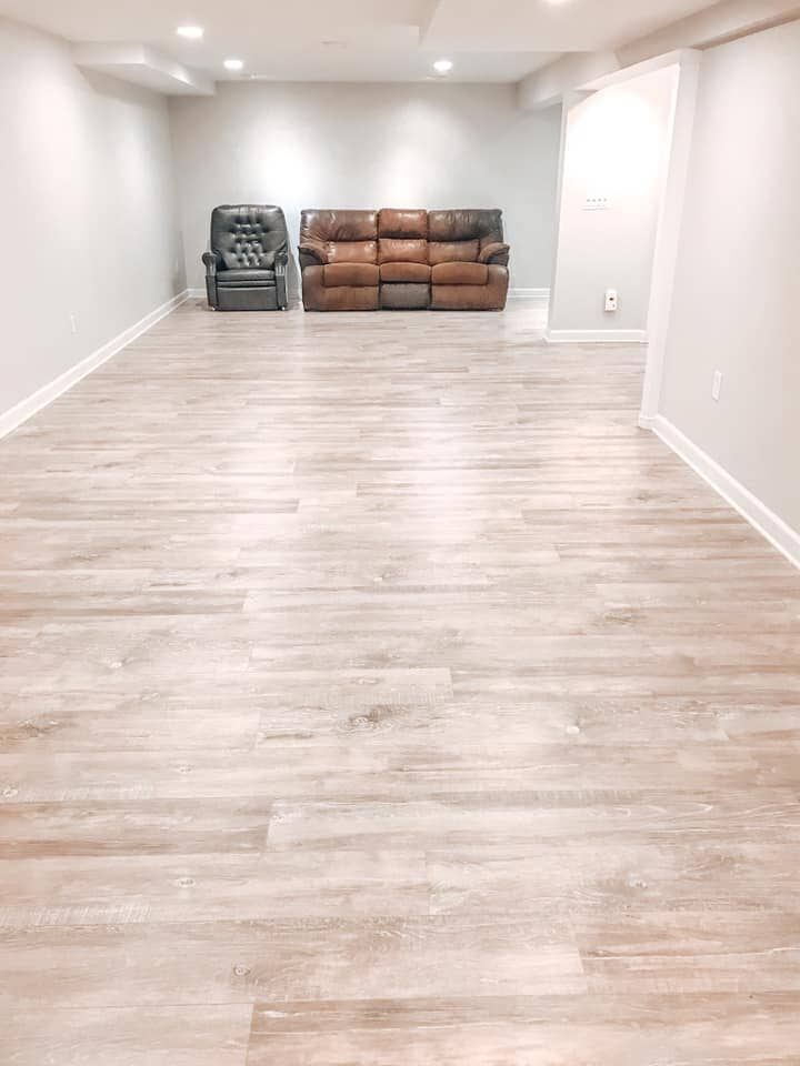 Finished basement in Antioch, IL from Anderson Tile & Carpet