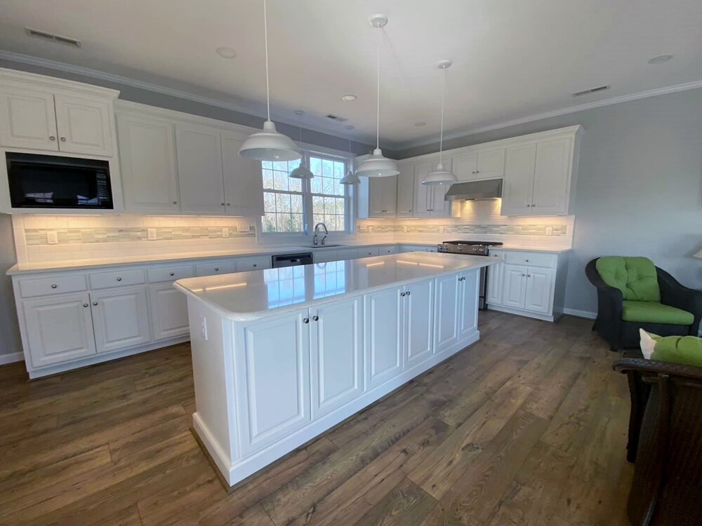 Large kitchen island in Wilson, NC from Richie Ballance Flooring & Tile