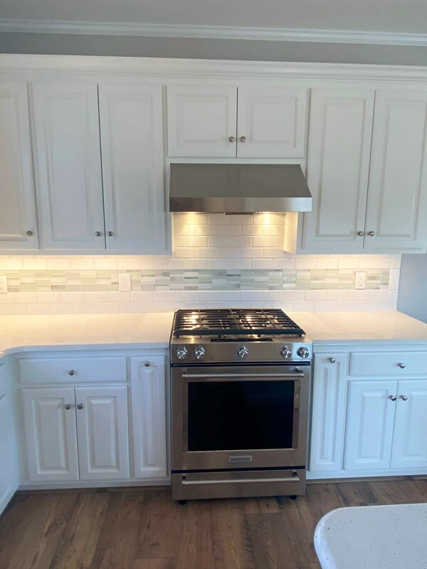 Beautiful white cabinetry in Wilson, NC from Richie Ballance Flooring & Tile