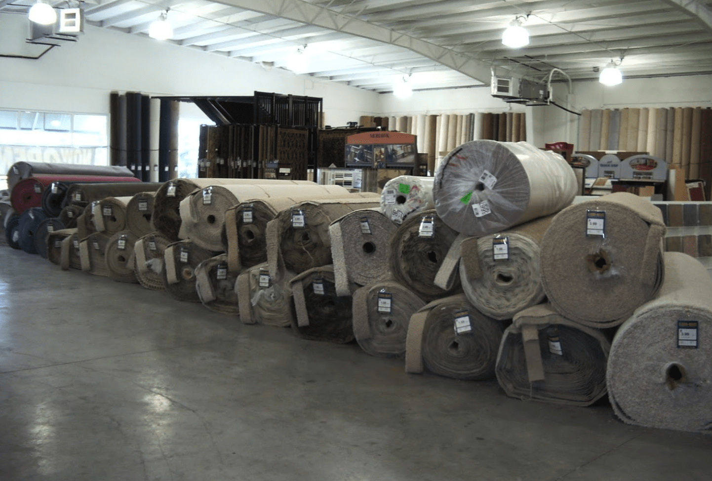 Carpet rolls ready for your Cape Coral, FL home from Floor-Mart
